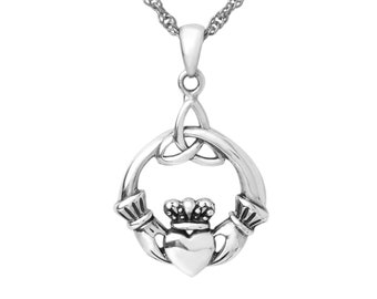 Shark R74 Emblem on a 925 Sterling Silver Necklace 16,18,20,26,30