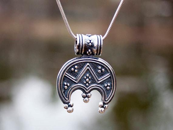 Halsketten & Anhänger Modeschmuck Sun Moon Pewter Pendant & NecklaceUnisex Viking Pagan Norse Lunar Jewellery
