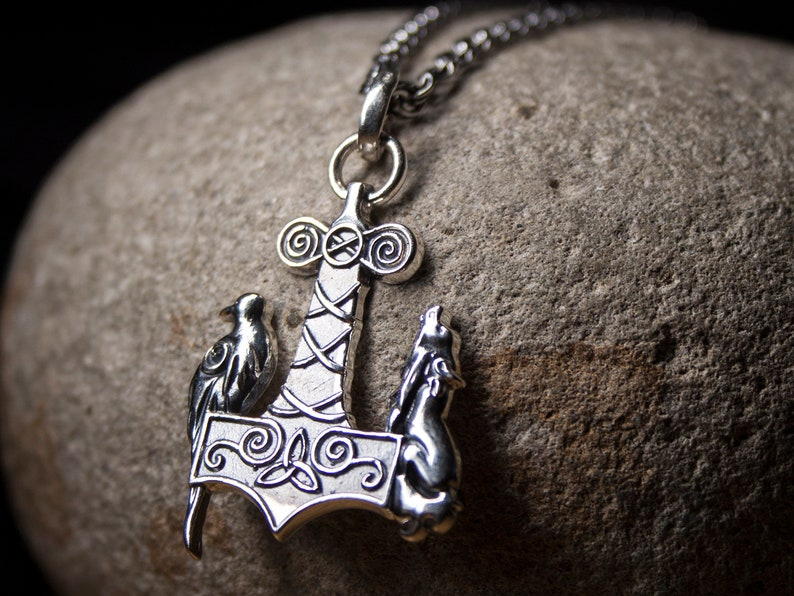 Jewelry & Accessories Men Viking Amulet Axe Rune Wolf Raven Pendant Axe Necklace