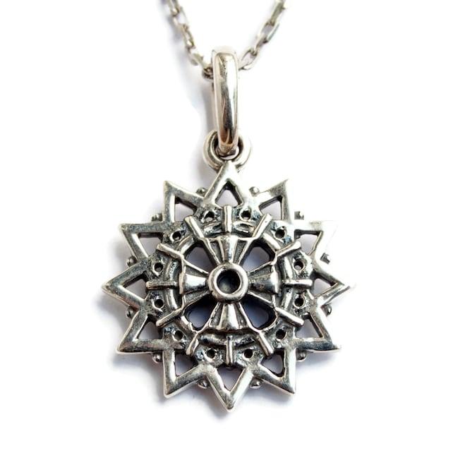 Erzgamma Star Silver Pendant 12 Pointed Star Lucky Star Etsy