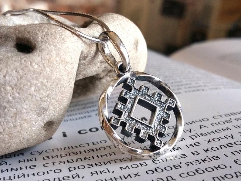 Valknut symbole Viking Bijoux Cristal Coeur Collier Pendentif Rhienstone Amulette