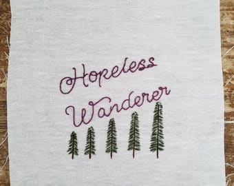 Hopeless Wanderer Trees Embroidery
