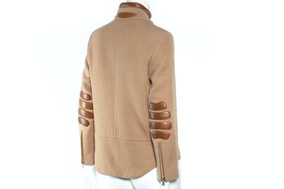 PRADA SS 1999 Runway Wool and Leather Jacket