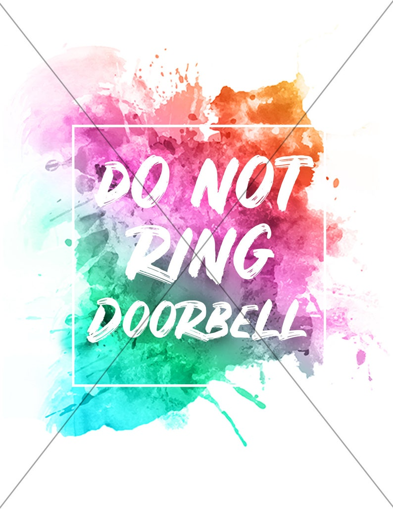 photo about Printable Baby Sleeping Sign Front Door known as Do Not Ring Doorbell Signal, PRINTABLE Immediate Down load, Entrance Doorway Indication, Little one Sleeping, Serene Zone Indication