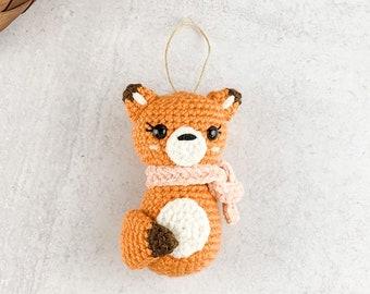 Crochet Fox Ornament Pattern - Instant Download - Amigurumi Pattern