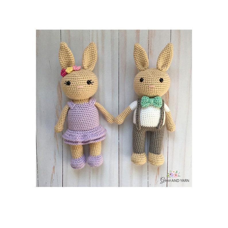 Amigurumi Bunny Crochet Pattern  PDF Instant Printable image 0