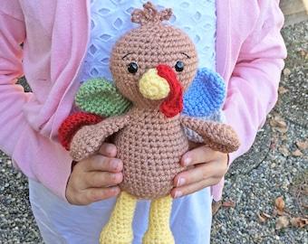 Crochet Turkey Pattern - Instant PDF Download - Amigurumi Turkey Pattern