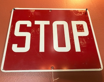 Painted Tin STOP Sign