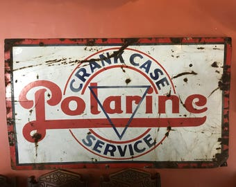 Polarine Crank Case Service Sign - Single Sided Porcelain