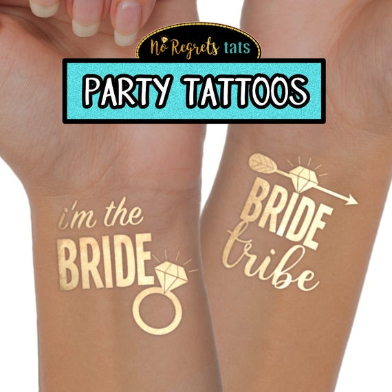 For Better or Worse Tattoos  Bachelorette party  Hen party  Gold foil tattoo  Bachelorette tattoo  Penis tattoos  Mature Party Favors
