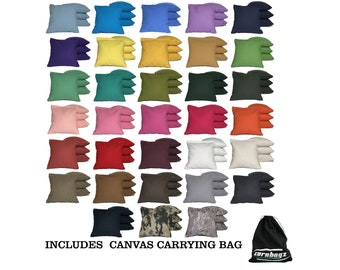 Cornhole Bags•8 ACA Regulation Bags•Traditional Corn Filling•30+colors•Includes carrying bag