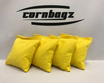 Cornhole Bags Set of 4 ACA Regulation Bags•traditional corn filling• Bright Yellow