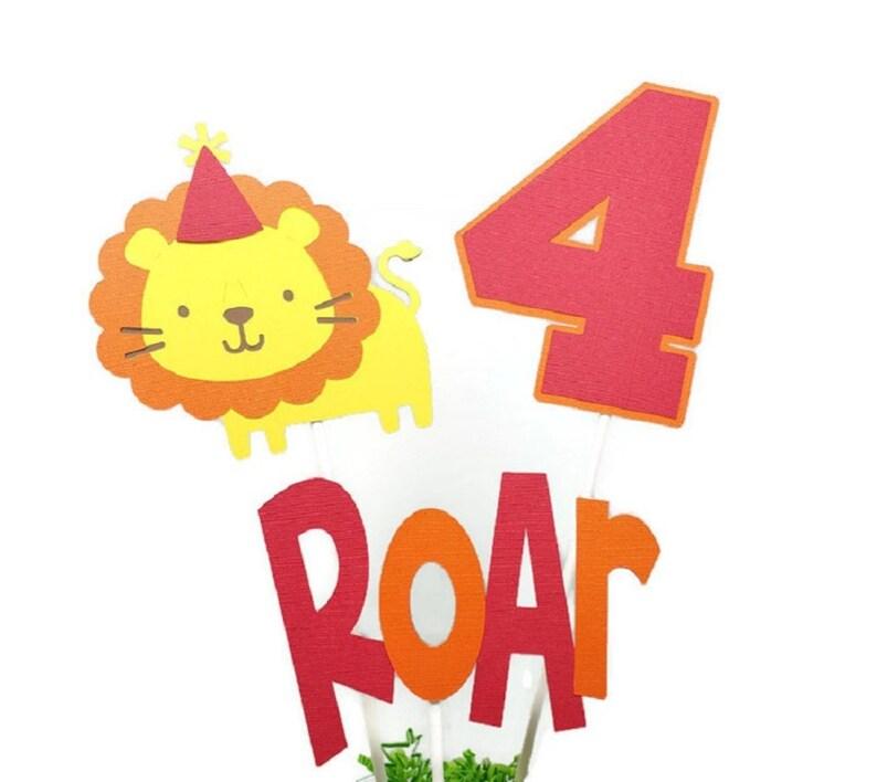 Lion Birthday Decorations Jungle Cake Toppers Safari image 0