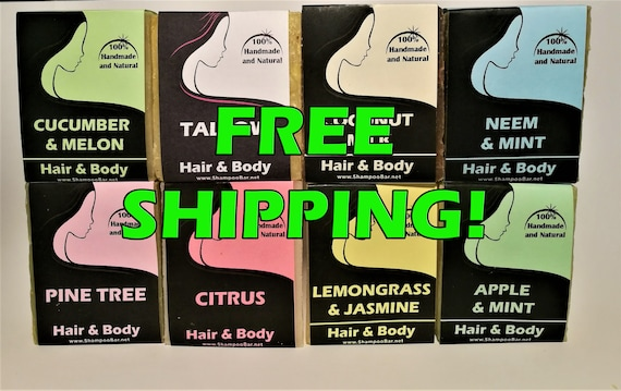 Shampoo Bar - FREE DELIVERY - Natural Shampoo - Handcrafted - SLS Free Shampoo - Solid Shampoo - Paraben Free - Palm Oil Free - Coconut Oil