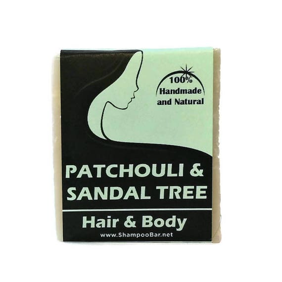 Solid Shampoo and Body Wash - Patchouli Sandal Tree - All Natural Ingredients - Handmade Shampoo - Paraben Free Shampoo - Silicone Free
