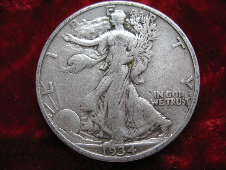 1934-S Walking Liberty Half Dollar, BETTER GRADE Original Condition!  Genuine