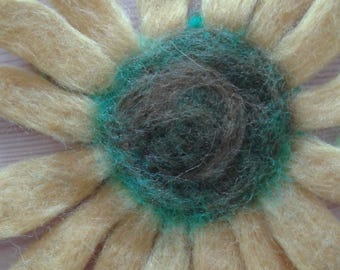 Felted art necklace ,necklace made from 100% wool