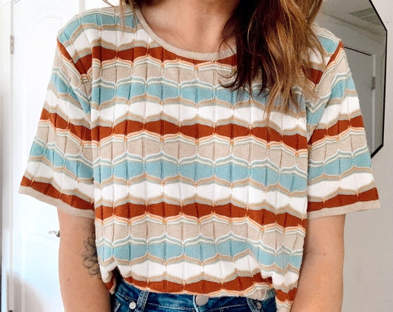 SEVENTIES STRIPED TOP