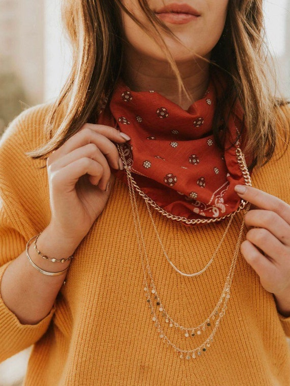 Burnt Sienna Bandana Necklace