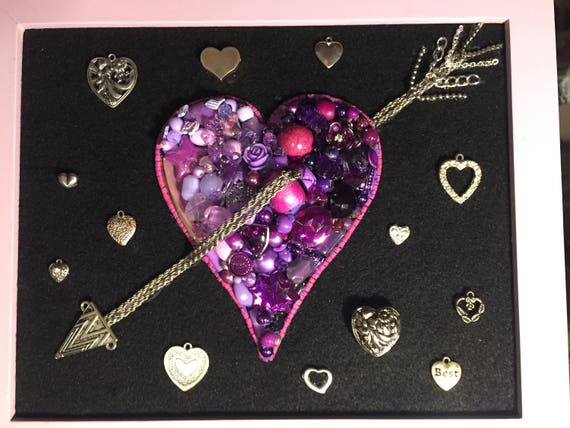 Sale Sale Framed Jewelry Art Valentine S Day Valentines Etsy