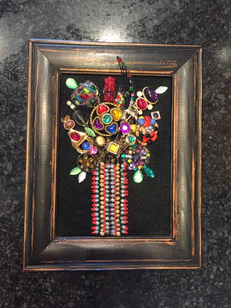 Sale Vintage Jewelry Art Framed Jewelry Art Jewelry Christmas Etsy