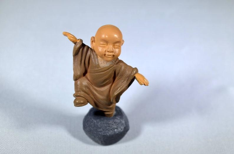 6 Cranes Mud Men Figurines Bonsai Chinese