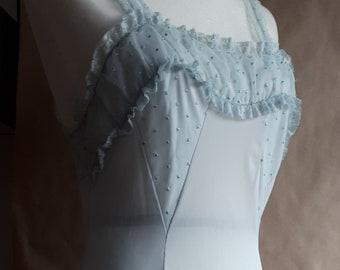 Mimosa - 1950s palest powder blue nightgown