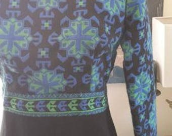 1960s Malcolm Starr mod wool dress