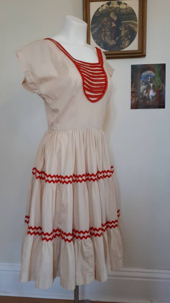 Vintage square dance/ patio dress M/L - image 5
