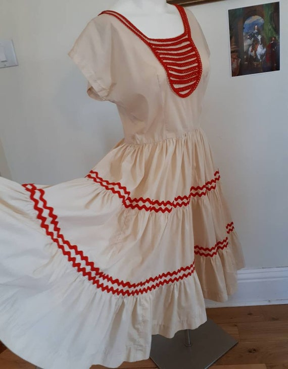 Vintage square dance/ patio dress M/L