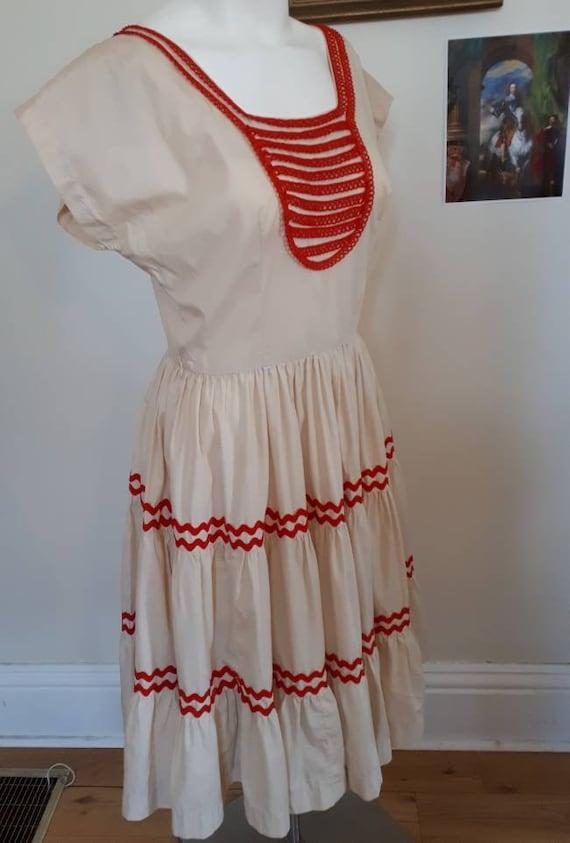 Vintage square dance/ patio dress M/L - image 2