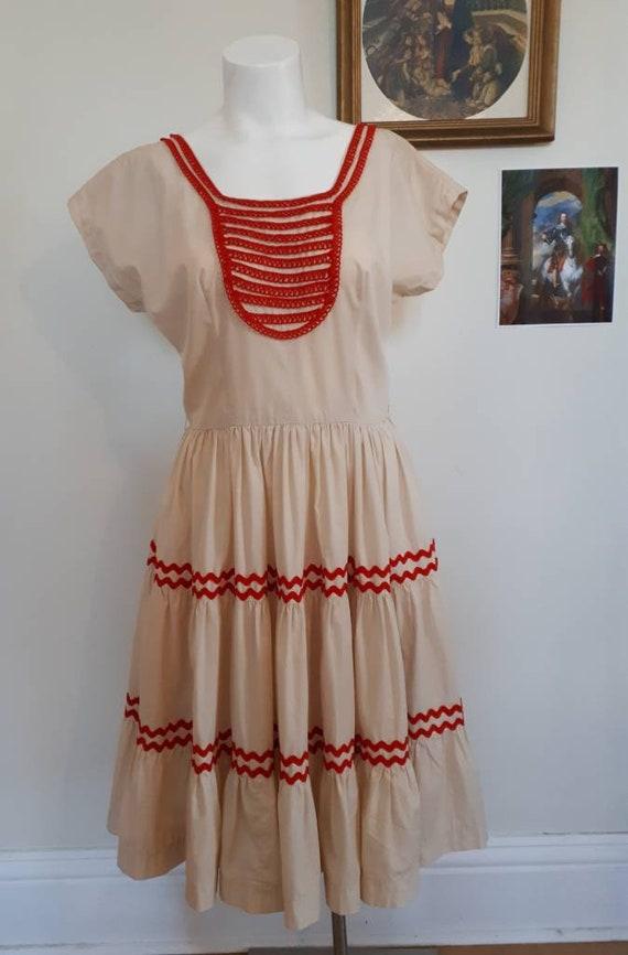 Vintage square dance/ patio dress M/L - image 6
