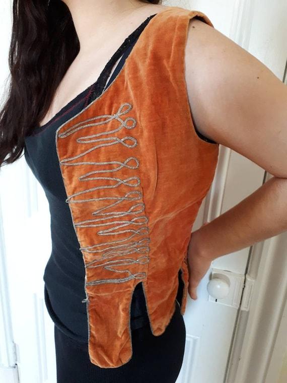 Antique Turkish velvet vest