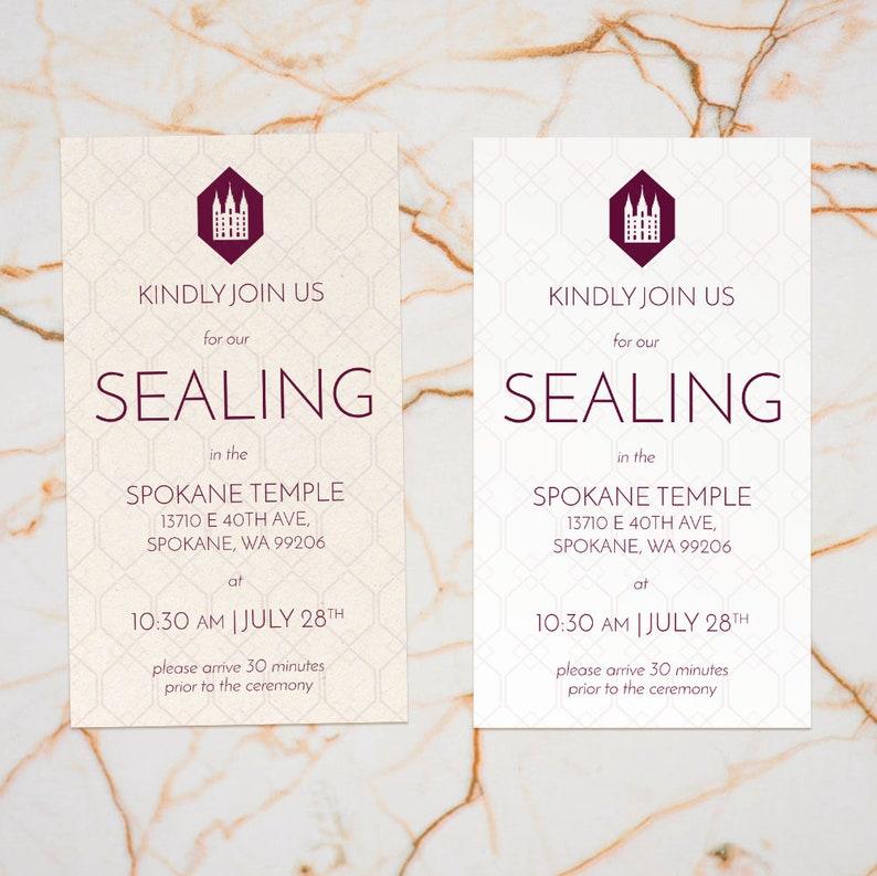 Geometric LDS Temple Sealing Invitation