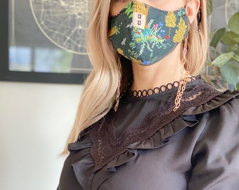 Face Mask Chain | gold face mask necklace, face mask holder, fashion face mask, face mask lanyard, face mask jewelry