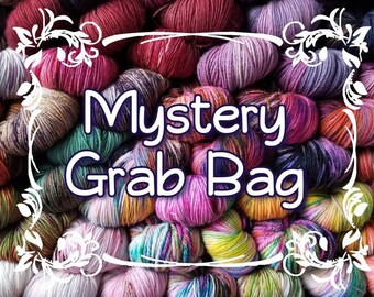 Mystery Grab Bag - hand dyed yarn - indie dyed yarn - assorted bases and weights -