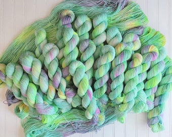 Midori - Dyed-To-Order - Sailor Moon inspired -  hand dyed yarn - indie dyed yarn - Superwash Merino