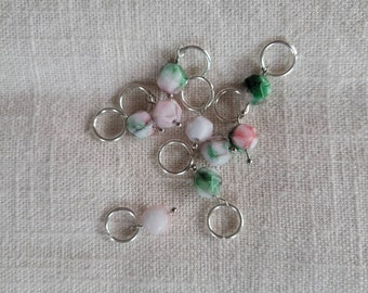 Mountain Jade Stitch Markers - Set of 4 - Knitting notions