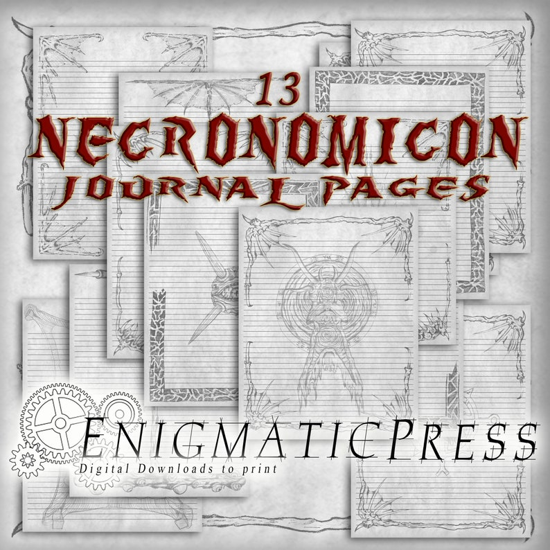 photograph regarding Printable Necronomicon Pages referred to as 13 covered Necronomicon, spell guide, 8.5x11 magazine web pages, for grand grimoire, property printable, electronic down load PDFs