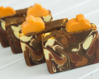 Pumpkin Perfection Handcrafted Artisan Soap ~ Made with Real Pumpkin Puree   Luxury Handmade Soap, Great Gift Under 10 for Pumpkin Lovers