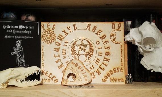 Wooden Ouija Board Planchette W Wiccan Zodiac Symbols Etsy
