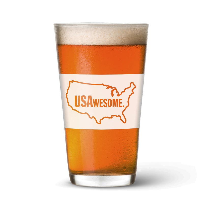 USAwesome Pint Glass image 0