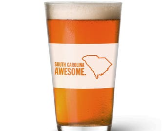 South Carolina Awesome Pint Glass
