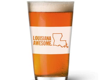 Louisiana Awesome Pint Glass