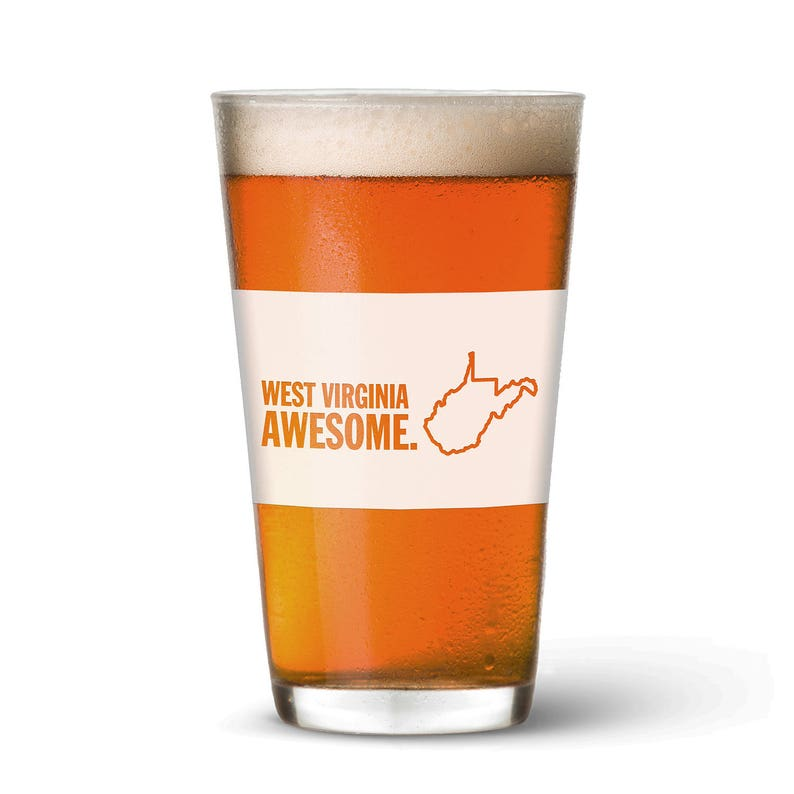 West Virginia Awesome Pint Glass image 0