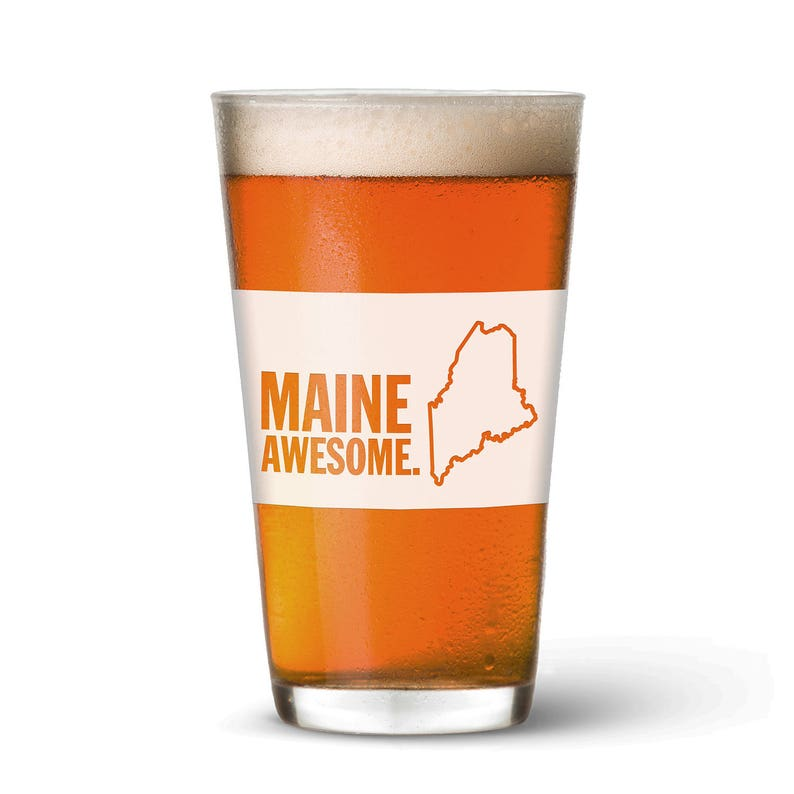Maine Awesome Pint Glass image 0