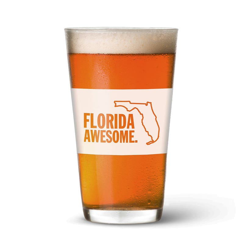 Florida Awesome Pint Glass image 0