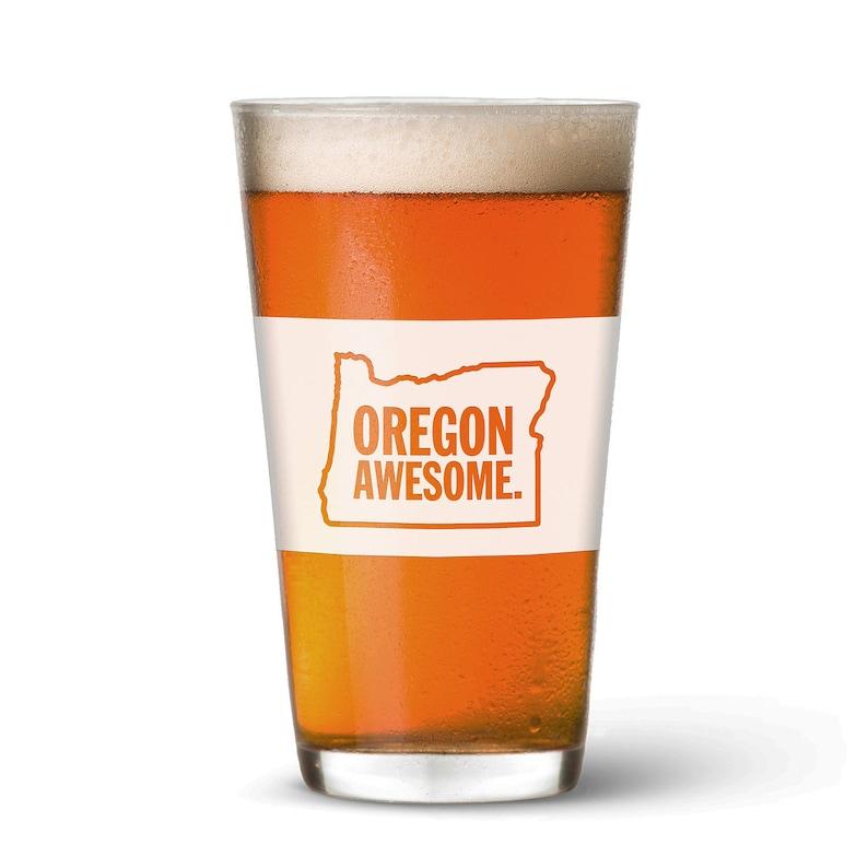 Oregon Awesome Pint Glass image 0
