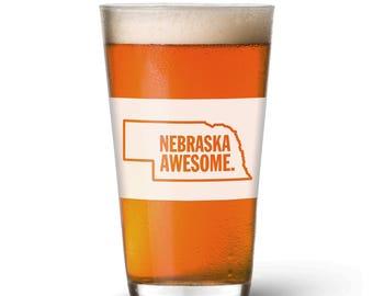 Nebraska Awesome Pint Glass