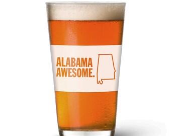 Alabama Awesome Pint Glass